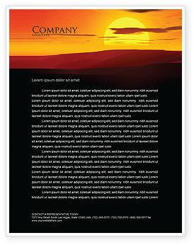 Nature & Environment: Plantilla de membrete - puesta de sol #03871