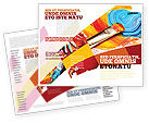 Art & Entertainment: Olieverf Brochure Template #03873