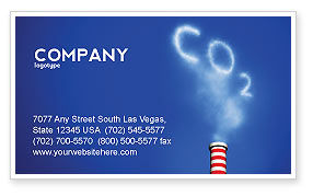 Nature & Environment: Carbonic Gas Business Card Template #03874