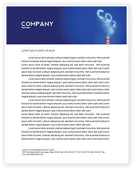 Nature & Environment: Carbonic Gas Letterhead Template #03874