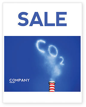Nature & Environment: Carbonic Gas Sale Poster Template #03874