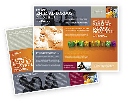 Visual education brochure template design and layout for Educational brochure templates