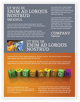 Visual Education Flyer Template, 03875, Education & Training — PoweredTemplate.com