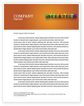 Visual Education Letterhead Template, 03875, Education & Training — PoweredTemplate.com