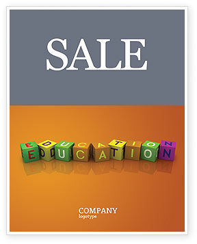 Education & Training: Visual Education Sale Poster Template #03875