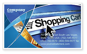 Business: e-Shopping Cart Business Card Template #03878