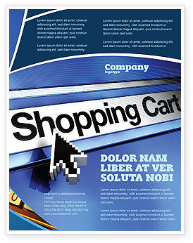 e-Shopping Cart Flyer Template