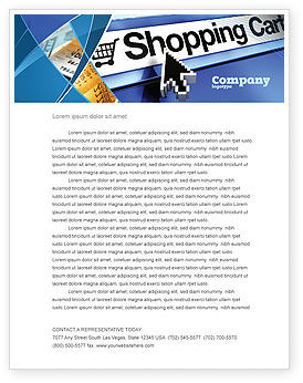 Business: e-Shopping Cart Letterhead Template #03878