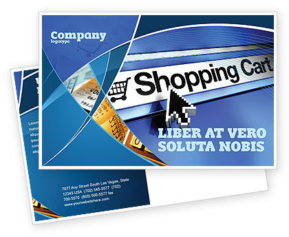 Business: Modello Cartolina - E-shopping carrello #03878