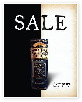 Book of Poetry Sale Poster Template
