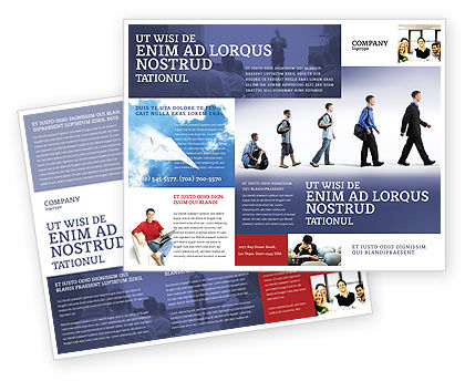 Education and Development Brochure Template, 03880, Business Concepts — PoweredTemplate.com