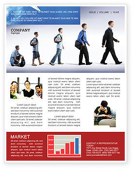 Education and Development Newsletter Template, 03880, Business Concepts — PoweredTemplate.com