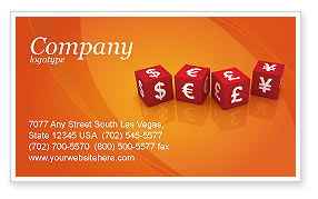 World Currency Business Card Template