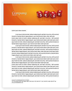 Financial/Accounting: World Currency Letterhead Template #03881