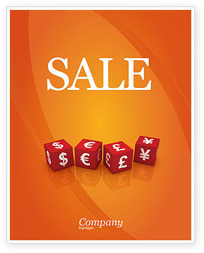 World Currency Sale Poster Template, 03881, Financial/Accounting — PoweredTemplate.com