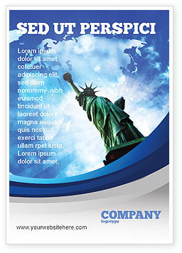 America: America and World Ad Template #03882