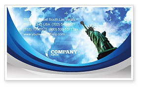 America and World Business Card Template