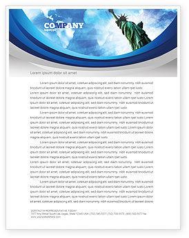 America and World Letterhead Template, 03882, America — PoweredTemplate.com