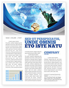 America: America and World Newsletter Template #03882