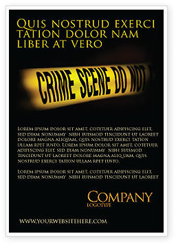 Legal: Crime Scene Ad Template #03883
