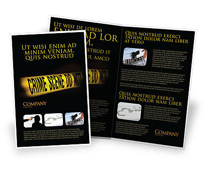Crime Scene Brochure Template, 03883, Legal — PoweredTemplate.com