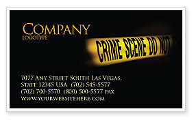 Legal: Crime Scene Business Card Template #03883