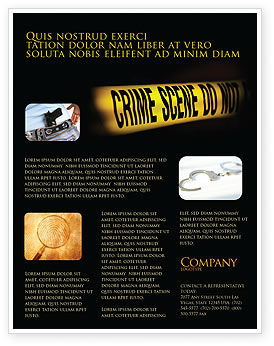 Legal: Crime Scene Flyer Template #03883