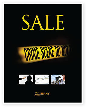 Crime Scene Sale Poster Template, 03883, Legal — PoweredTemplate.com