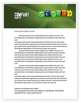 Income Letterhead Template, 03884, Financial/Accounting — PoweredTemplate.com