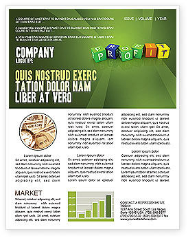 Income Newsletter Template, 03884, Financial/Accounting — PoweredTemplate.com