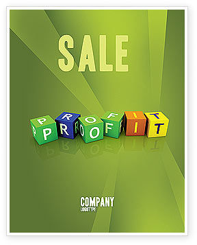 Income Sale Poster Template, 03884, Financial/Accounting — PoweredTemplate.com