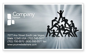 Team Victory Business Card Template
