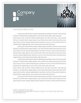 Business Concepts: Team Overwinning Briefpapier Template #03885
