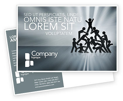 Business Concepts: Team Victory Postcard Template #03885