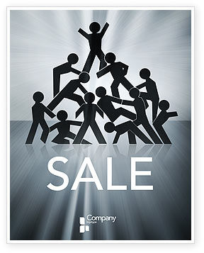 Business Concepts: Team Victory Sale Poster Template #03885