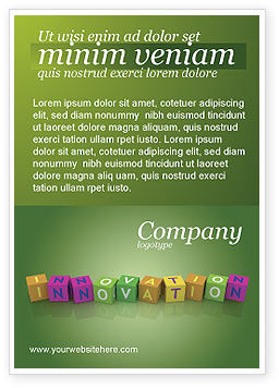 Innovation Cubes Ad Template, 03888, Education & Training — PoweredTemplate.com