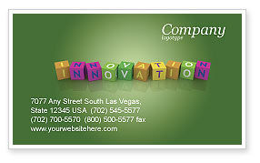 Innovation Cubes Business Card Template, 03888, Education & Training — PoweredTemplate.com