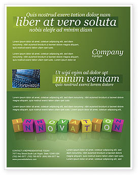 Innovation Cubes Flyer Template, 03888, Education & Training — PoweredTemplate.com