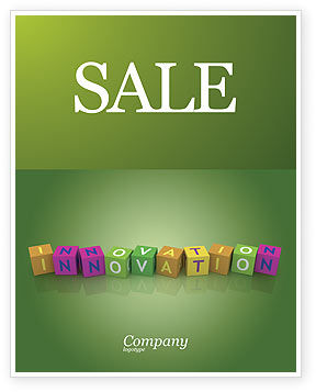 Education & Training: Innovation Cubes Sale Poster Template #03888