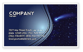 Fallen Star Business Card Template, 03889, Technology, Science & Computers — PoweredTemplate.com