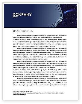 Fallen Star Letterhead Template, 03889, Technology, Science & Computers — PoweredTemplate.com