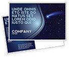 Technology, Science & Computers: Fallen Star Postcard Template #03889