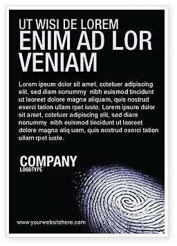 People: Fingerprint Ad Template #03890