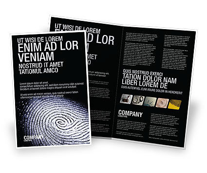 Fingerprint Brochure Template, 03890, People — PoweredTemplate.com