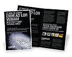 People: Fingerprint Brochure Template #03890