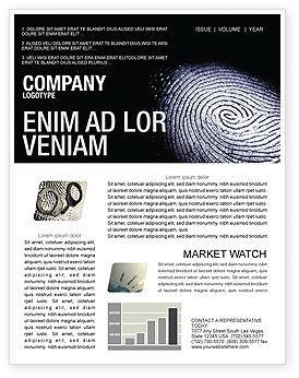 Fingerprint Newsletter Template, 03890, People — PoweredTemplate.com