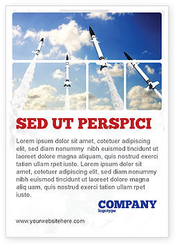 Missiles Ad Template, 03894, Military — PoweredTemplate.com