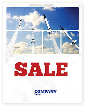 Missiles Sale Poster Template, 03894, Military — PoweredTemplate.com