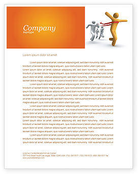 Business Concepts: Victory In The Race Letterhead Template #03896