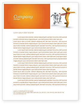 Business Concepts: Modèle de Papier à en-tête de la victoire dans la course #03896